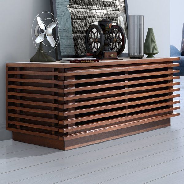 The Brayden Studio Design Chloe Narrow TV Stand Is Made In A Compact  Structure With A