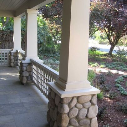 43 best images about front porch on pinterest front for River rock columns