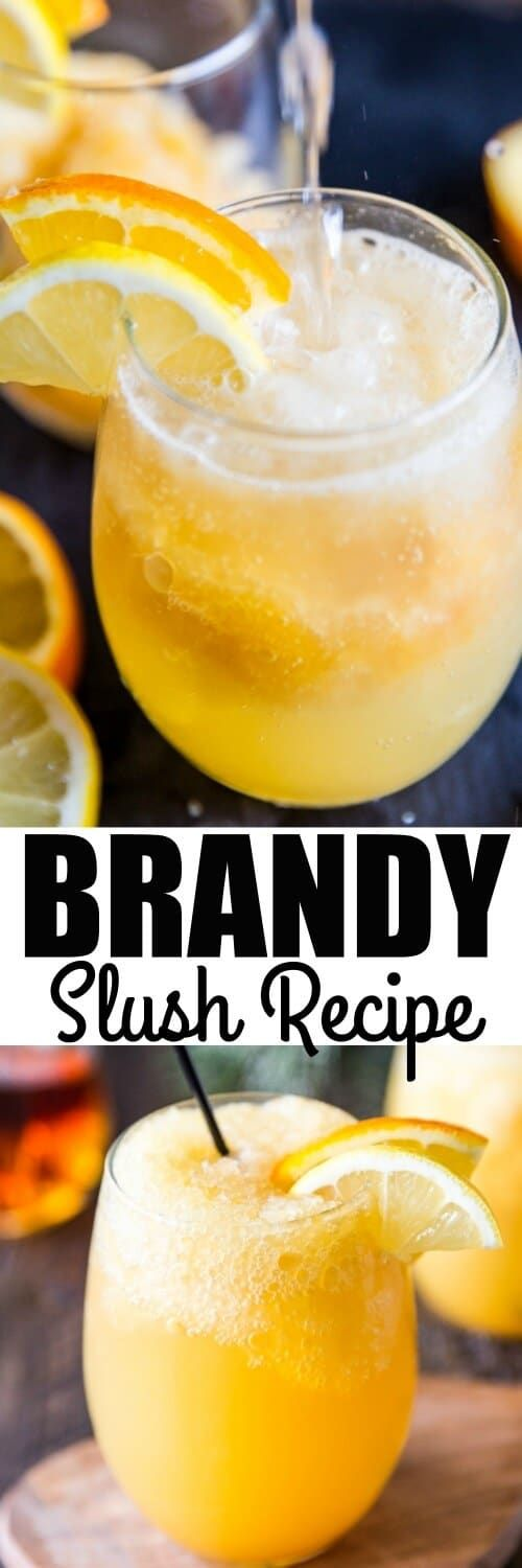 This sweet and boozy Brandy Slush recipe is a Midwestern classic! Make it ahead for parties or keep it on hand in your freezer indefinitely. via @culinaryhill