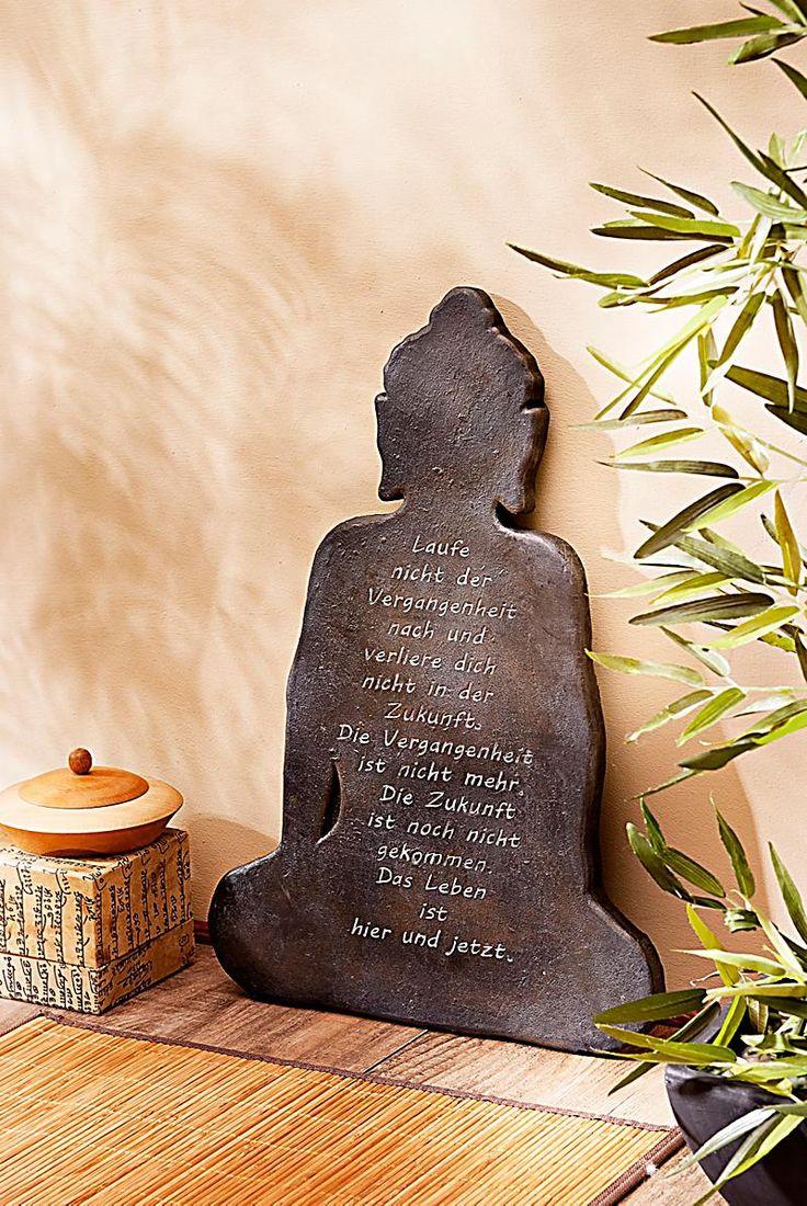 "Wandbild ""Buddha"" mit Spruch"