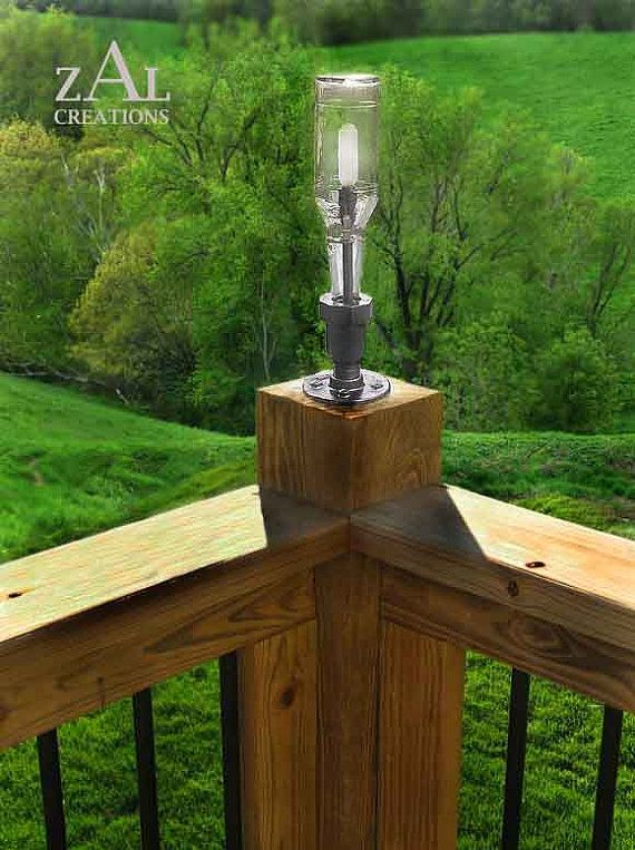 Hey, I found this really awesome Etsy listing at https://www.etsy.com/listing/78574535/deck-lamp-beer-bottle-plumbing-pipe