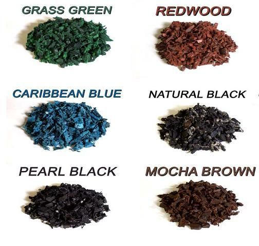 Rubber Mulch Colors - I could have a blue ring! Like a pool. :)