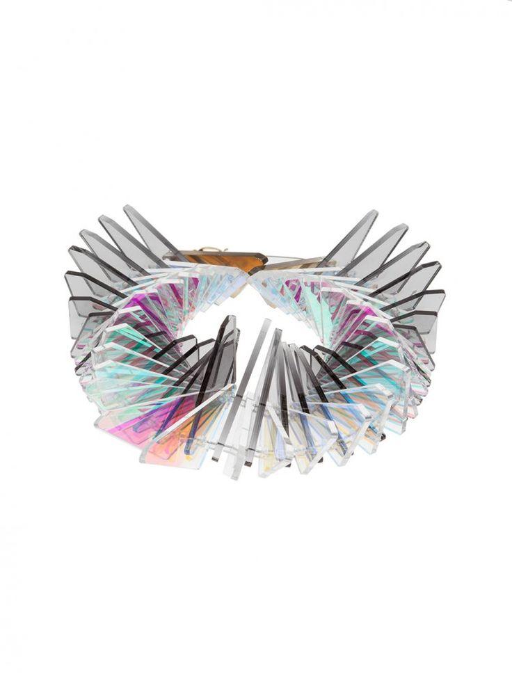 SARAH ANGOLD - Translucent Panels Layered Necklace - DRAGON DUPLICE - H. Lorenzo