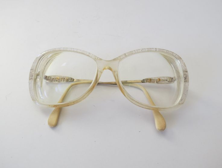 Glitter Glasses Vintage Eyeglasses White Lace 70s Frames 1970s Sunglasses Boho Hipster Glam Sparkly Sparkle by GoodLuxeVintage on Etsy