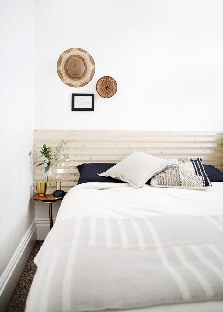 Diy Wood Slat Headboard Slatted Headboard Bed Headboard Wood Diy Bed Headboard