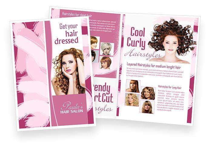 Paula's Hair Salon   Brochure Design