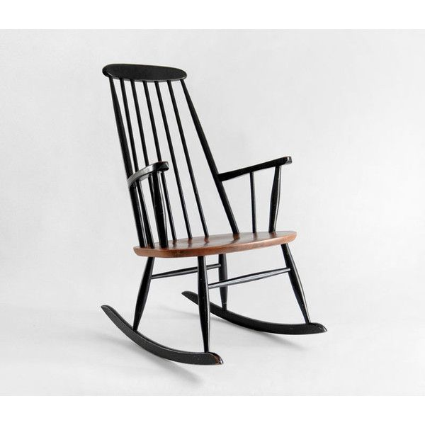 Vintage Ilmari Tapiovaara Teak Rocking Chair Mid Century, Modern, Wood, Danish, Rocker