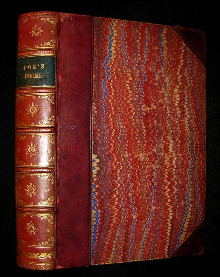 1880 Rare Book - The Poetical Works of Edgar Allan Poe together with his essays on the poetic principle and the philosophy of composition and a critical memoir