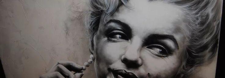 paintaddiction  Artist Shane Turner of Paint Addiction, Paints Marilyn Monroe.