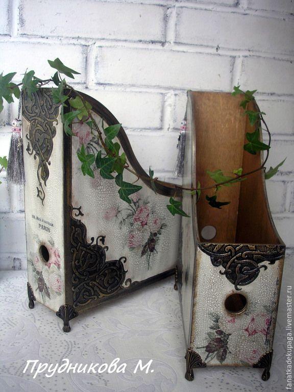 """Купить Комплект журнальниц """" Винтажные розы"""" - разноцветный, розы, розовые розы, винтаж"""