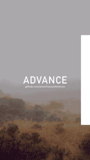 Advance – A powerful animation framework for iOS