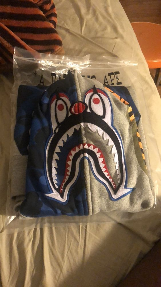 29b3b1ce2cd7 BAPE X UNDEFEATED Color Camo College Clown Pullover Hoodie- Blue-  Grey-Medium  fashion  clothing  shoes  accessories  mensclothing   activewear (ebay link)
