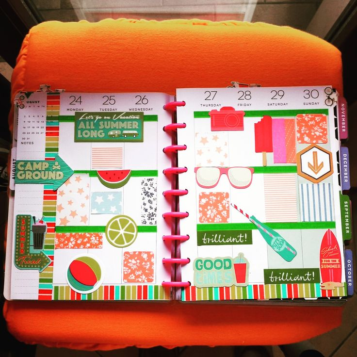 decorazione su Happy Planner di Paola Martino