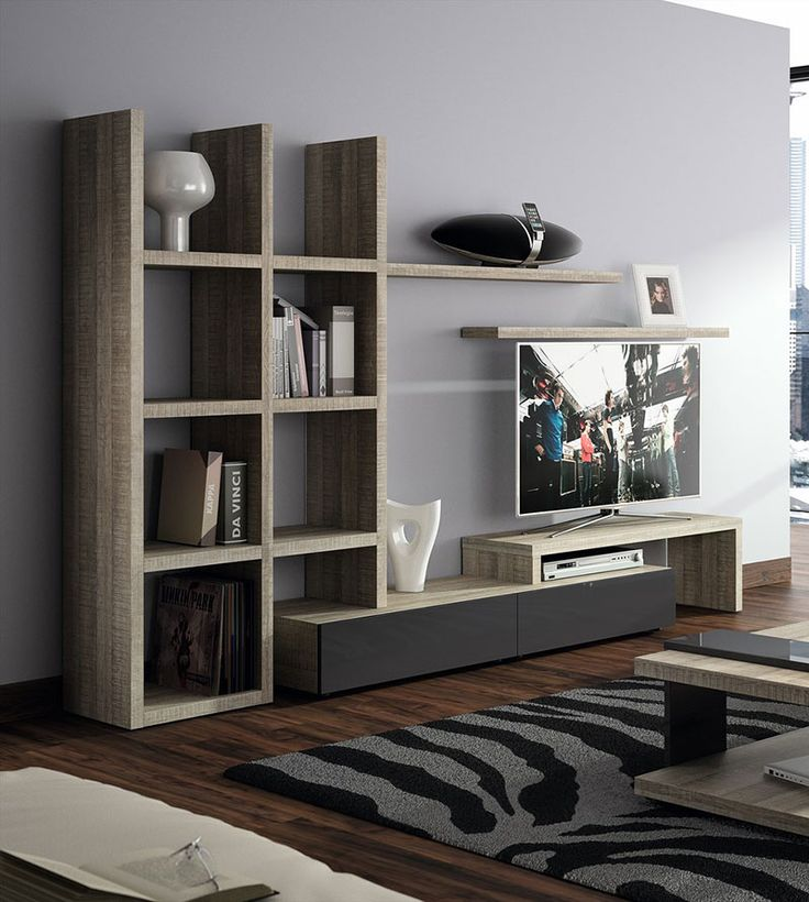 17 beste idee n over ensemble meuble salon op pinterest meuble tv chene en - Bibliotheque salon design ...