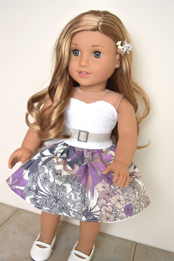 American Girl Doll Dress with Accessories Purple by EliteDollWorld