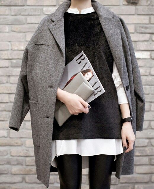 Layers of Grey, Black and White!