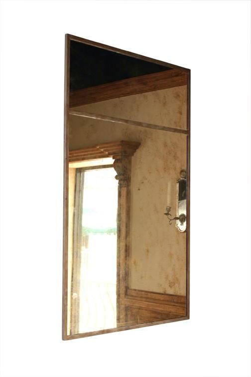Attractive Bradley Mirror #5: BRADLEY U0027Samu0027 Mirror In Antique Gold Iron Finish With Heavy Burnished Gold  Antique Mirror