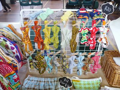 While Henry Naps: Bow tie market stall display #bebebouton