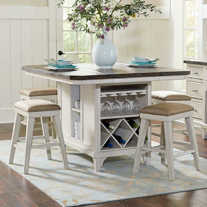 Georgetown Kitchen Island Set Kitchen Table With Storage Stools