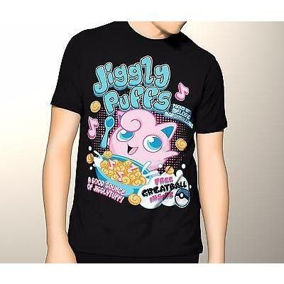 Pokemon Shirt, Jiggly Puffs Cereal, Graphic Tee, T-Shirt, Small - 5XL