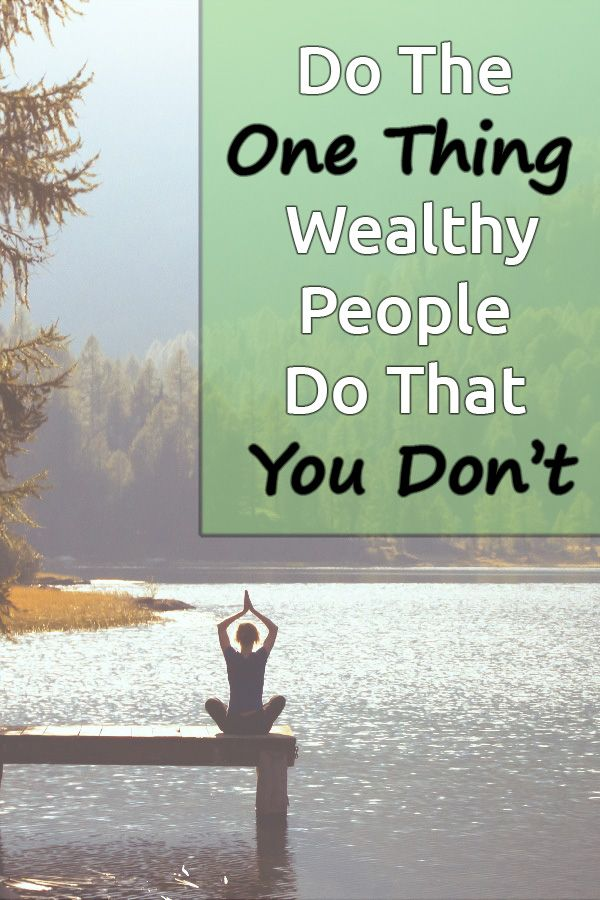 Hey there! Are you like we used to be? Do you wonder why rich people are rich and you struggle to get ahead? We were there, too! Here's the one thing you can start doing now that rich people always do. via @DebtFreeG