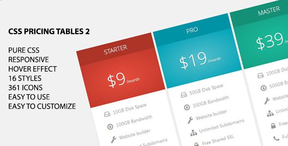 CSS Pricing Tables 2