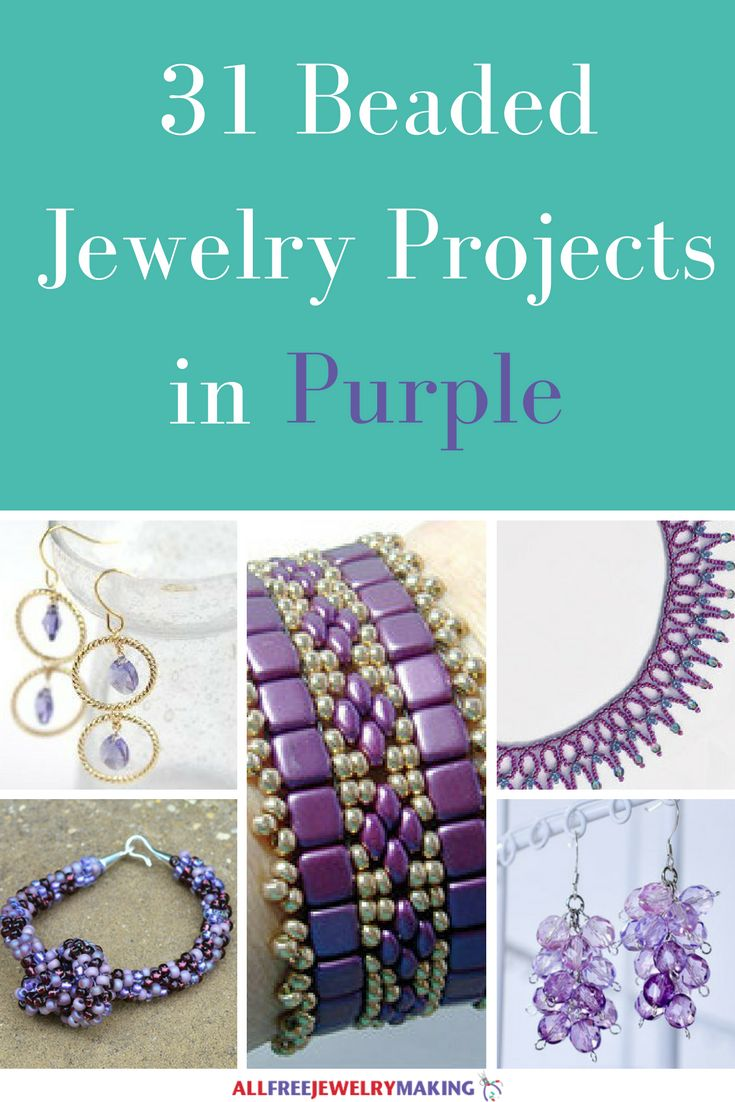 Beautiful Beading Patterns: 31 DIY Jewelry Projects in Purple | If you love purple jewelry patterns and beaded jewelry, then this collection is going to blow your mind! We dare you not to fall in love with it!