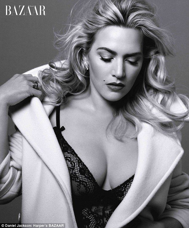 Silver screen siren: Kate Winslet stuns in the new Harper's Bazaar...
