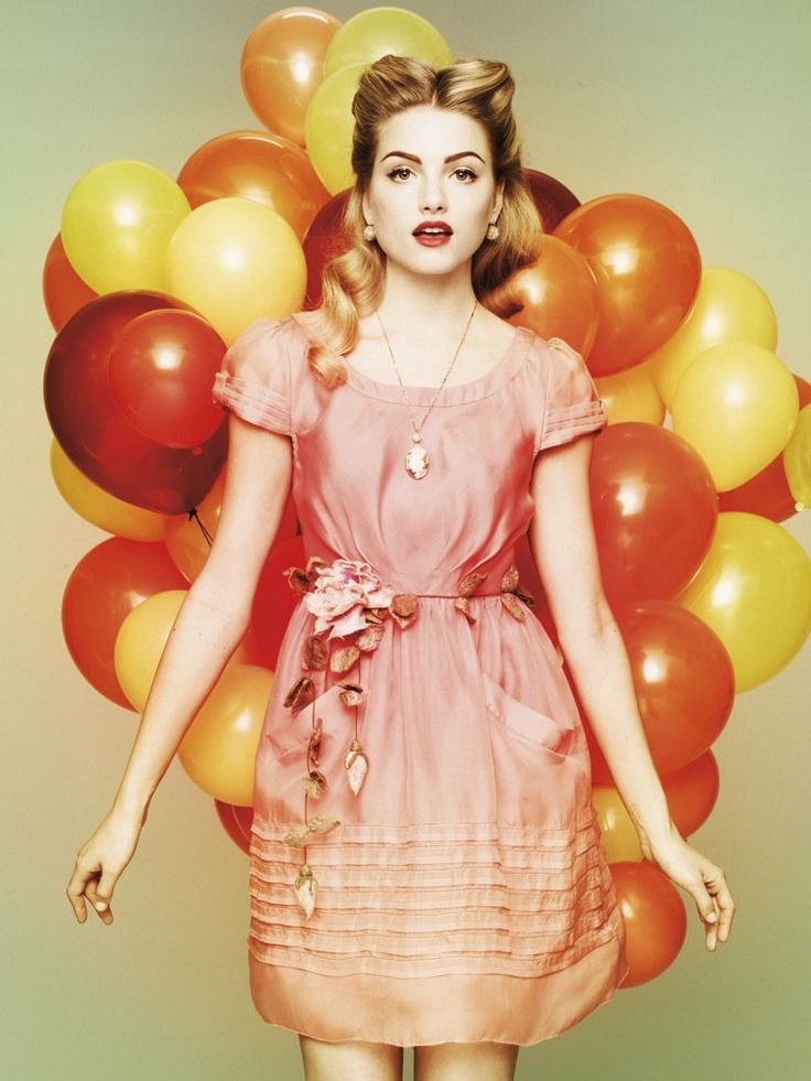 Miraflores Dress #bhldn #dress #balloons #beading #wedding #party #pink #locket