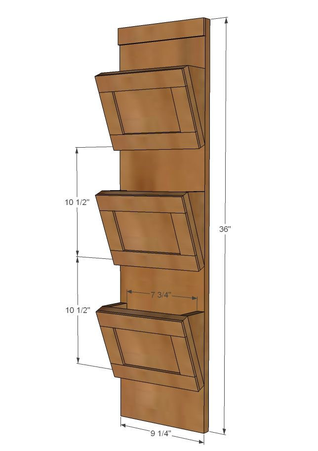 Ana White | Build a Wood Mail Sorter with Key Hooks | Free and Easy DIY Project and Furniture Plans