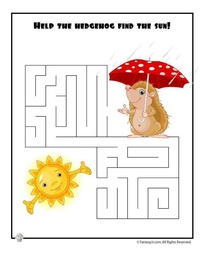 Easy Kids Mazes Easy Spring Maze – Fantasy Jr.