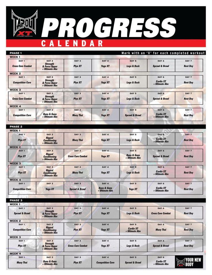 tapout+xt+workout+schedule   tapout Xt Workout Calendar