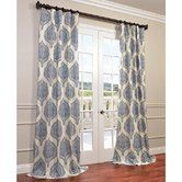 """Found it at Joss & Main - Bellino Damask Semi-Opaque Pinch Pleat Single Curtain Panel-What about this with the blue/grey/cream for either the bedroom or the study??? And..it comes in 108"""" length!"""
