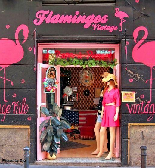 Tienda Vintage en la calle de la Palma, Madrid