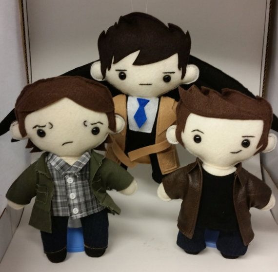 Team Free Will Supernatural Plushes by TheCraftingZombie13 on Etsy, $80.00