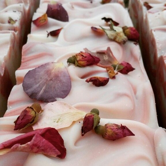 Rose soap by Bathhouse Soapery! Handmade, cold process, Arkansas crafted soap. www.bathhousesoap.com