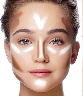 Face contouring for a square face