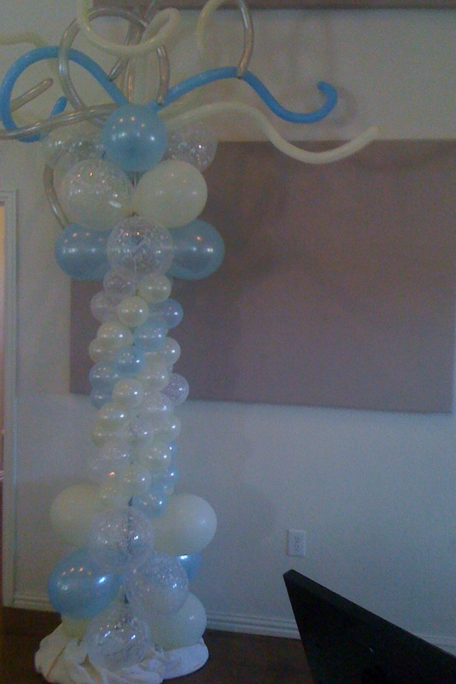 pics for gt quinceanera balloon decorations blue