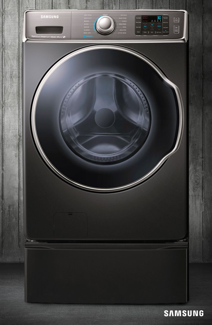 Bundle up with plenty of layers this winter. Samsung's 9100 Series Front Load Washer can help you tackle up to 4 laundry baskets in a single load. Spend less time in the laundry room and more time enjoying the snow.