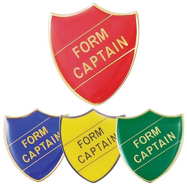 School Council Enamel Shield Badge Pink
