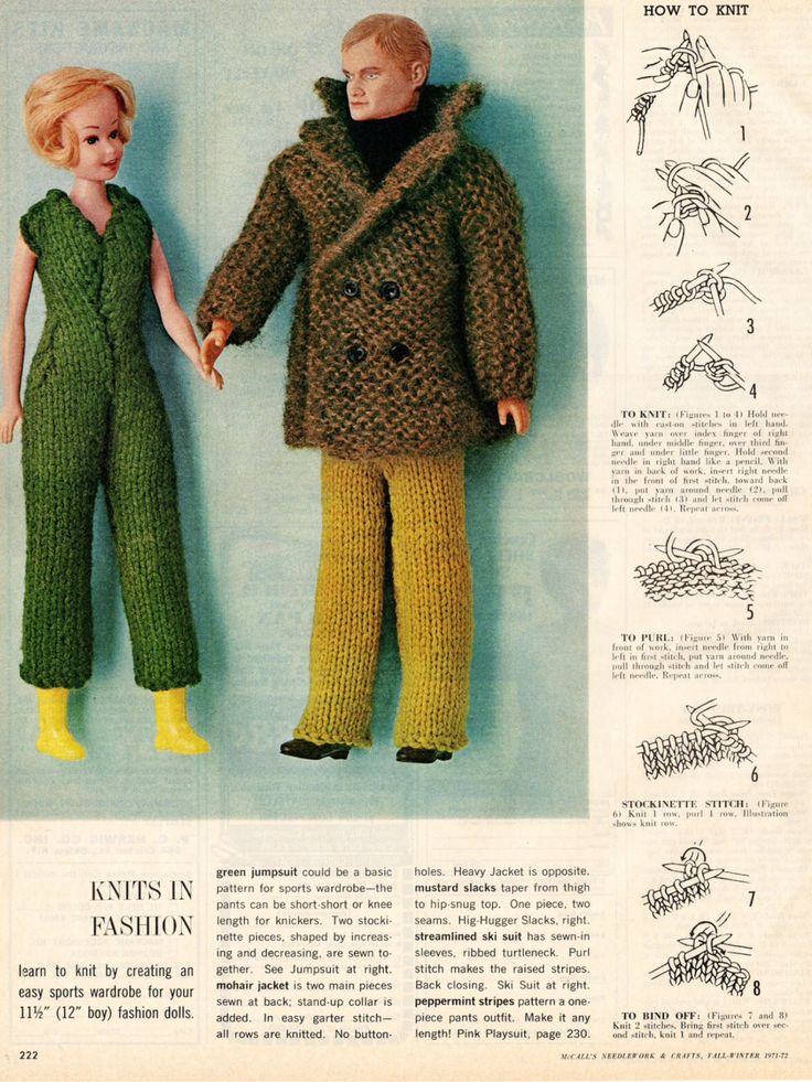 The 371 Best Barbieknitting Patterns Two Images On Pinterest