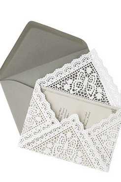 DIY- Lace Invitation Liners