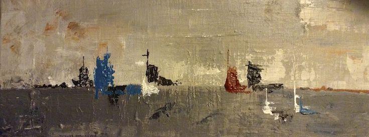 Peinture fraiche : marine Acrylique sur toile