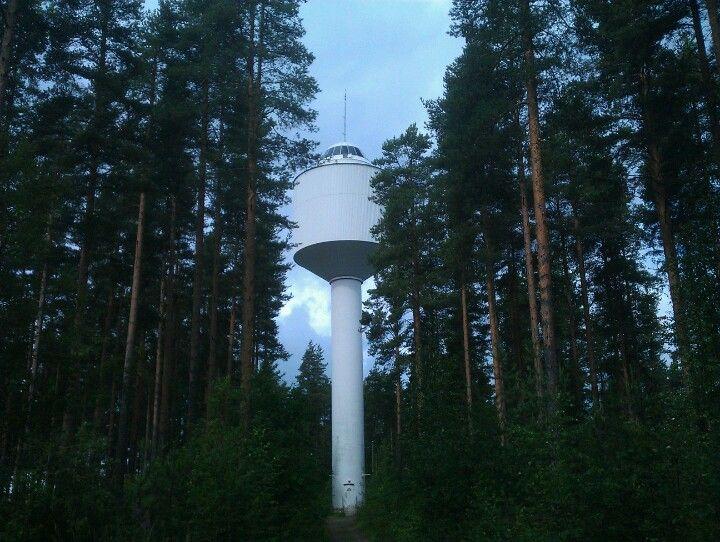 View point during the summer season. Vesitornin näköalatasanne