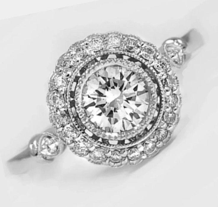 1.53 Ct Edwardian Style Platinum Engagement Ring - On Sale! Reg. $2899