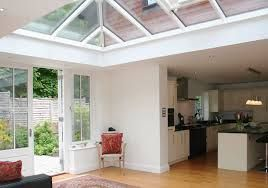 Kitchen to lantern roof transition