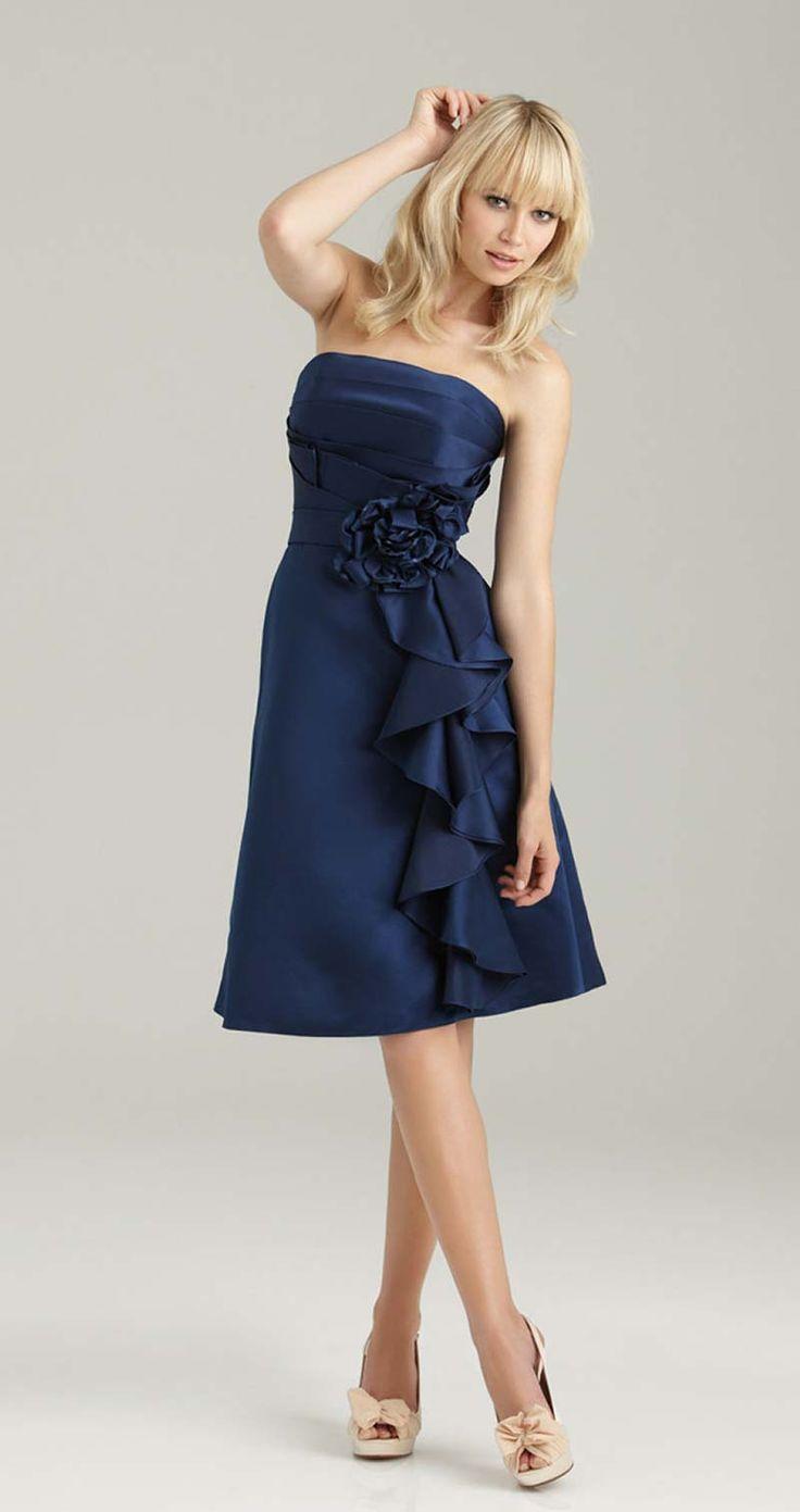 Knee length ruffle bridesmaid dress from Allure