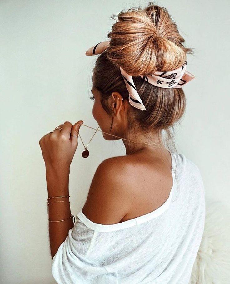 Meine Haarknoten sehen nie so voll oder groß aus,…
