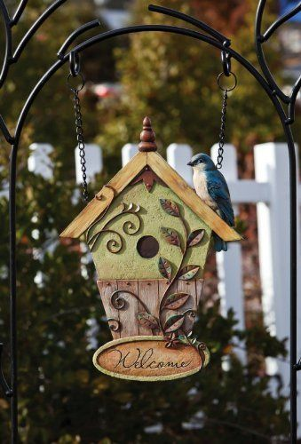 Garden Gate Welcome Design Post, Resin, 12.5x15 Inches by Ashley Gifts. $29.99. Save 33% Off!