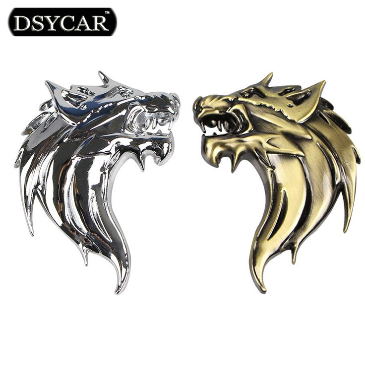 DSYCAR 1Pcs Zinc Alloy 3D Wolf Head car stickers Auto Metal Emblem Car Truck Motor Logo Sticker Car styling 2 Colors ** Read more  at the image link.